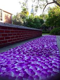 purple aisle runner orchid violet lavender petal aisle runner