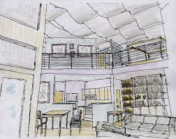 loft apt interior sketch 1 by nautonefl on deviantart