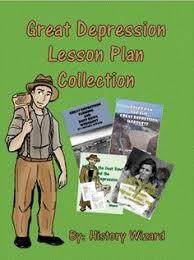 great depression lesson plan sampler worksheet mapping
