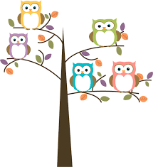 owl in tree free clipart