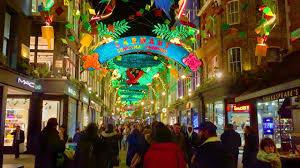 london christmas lights walking tour london walk carnaby street christmas lights england uk youtube