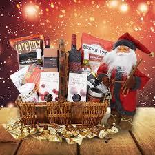 christmas wine gift baskets jolly st nick christmas gift basket yorkville s usa