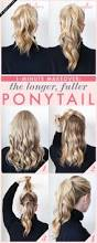 26 lazy hairstyling hacks fake a fuller ponytail by doing the double ponytail trick 29