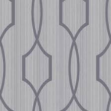 palladian wallpaper in silver and soft grey design by york