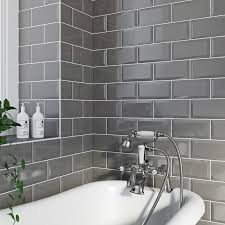Grey And White Bathroom Tile Ideas Grey Bathroom Ideas Victoriaplum