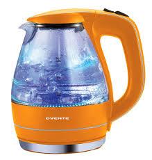 amazon com ovente kg83 series 1 5l glass electric kettle orange