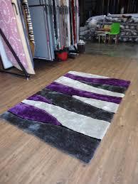 Purple Shag Area Rugs Handmade Vibrant Gray With Purple Shag Area Rug With Carved