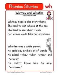 first grade reading comprehension worksheet phonics words
