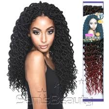 braids crochet synthetic hair crochet braids curled faux locs 18 samsbeauty