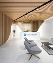 Reception Desks Sydney Dental Clinic In Sydney Built Around A Sculptural Wooden