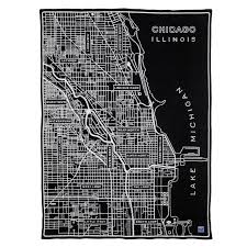 Bucktown Chicago Map by Faribault Woolen Mill Co Chicago Map Wool Throw Huckberry
