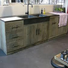 meuble cuisine en bois brut meubles de homewreckr co