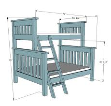 Ana White Twin Over Full Simple Bunk Bed Plans DIY Projects - Twin bunk bed dimensions