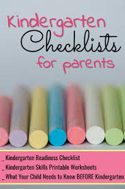 kindergarten checklists 2017 free printable readiness checklists