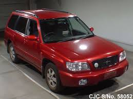 subaru forester red 2000 subaru forester red for sale stock no 58052 japanese