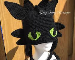 Toothless Halloween Costume Toothless Hat Etsy