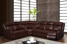 Motion Sectional Sofa U9303 Motion Sectional Sofa In Brown Bonded Leather By Global