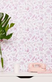 deck your walls with these betsey johnson wallpapers brit co