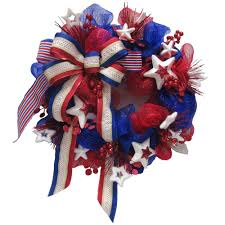 decorative wreaths for the home home accents holiday polymesh patriotic wreath asm hspr001 the