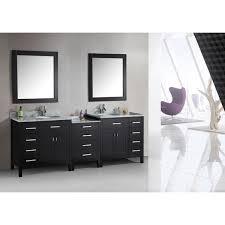 Espresso Vanity Table Design Element London Collection Espresso 92 Inch Double Sink