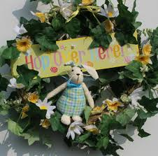 Spring Wreaths For Door by Diy Easter Bunny Wreath For Spring