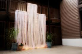 backdrop 5ft panel tulle dramatic lighted wedding