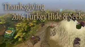 runescape turkey hide seek guide thanksgiving 2016