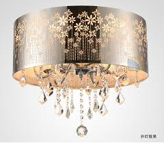 Dining Room Drum Light Modern Led K9 Lustre Chandelier Drum Ceiling L