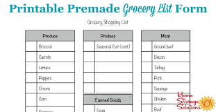 printable household shopping list free printable grocery list form