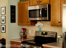 Images Of Tile Backsplashes In A Kitchen Split Face Travertine Tile Backsplash The Diy Village