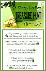 backyard treasure hunt st patrick s day holiday treasure hunt with free printable clues
