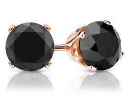 black earrings studs the special black diamond earrings jewelry design