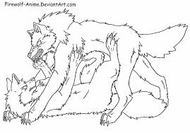 wolf pin art firewolf anime deviantart deviantart