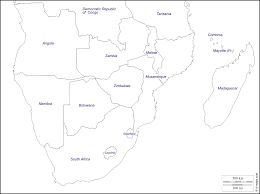 Map Of Southern Africa by Southern Africa Free Map Free Blank Map Free Outline Map Free