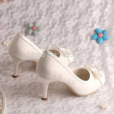 Wedding Shoes Off White Aliexpress Com Buy Wedopus Mw902 Off White Lace High Heel Shoe