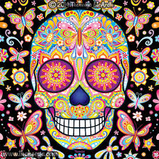 day of the dead a gallery of colorful skull celebrating