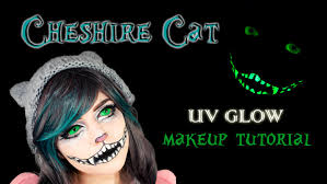 cheshire cat makeup tutorial uv glow youtube