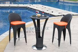 Rattan Bar Table Modern Line Furniture Commercial Furniture Custom Made