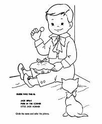 mother goose jack horner coloring coloring pages word