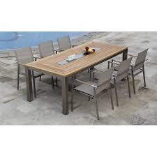 Steel Patio Furniture Sets by Teak Steel Outdoor Rectangular Table Signature