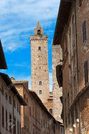 si e unesco the torre grossa view from a in the center of san gimignano