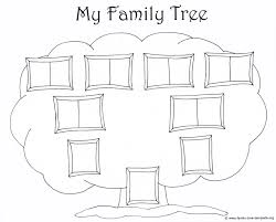 simple family chart to color book family tree