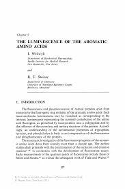 Underwriter Resume Sample The Luminescence Of The Aromatic Amino Acids Springer