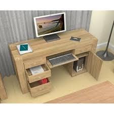 atlas chunky oak twin pedestal office desk free uk delivery