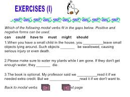 modal verbs exercises for grade 8 verb practice elementary level