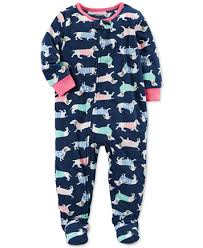s 1 pc print footed fleece pajamas baby
