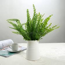plante verte bureau 1 pcs en plastique faux plante verte feuilles plante en pot fleurs