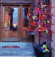 decorated halloween trees 50 chilling and thrilling halloween porch decorations for 2017