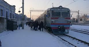 konotop ukraine jan 06 2016 electric arrives to a railway
