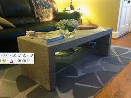 Concrete Side Table Reader Submission Mason Concrete Coffee Table Diy Del Ray